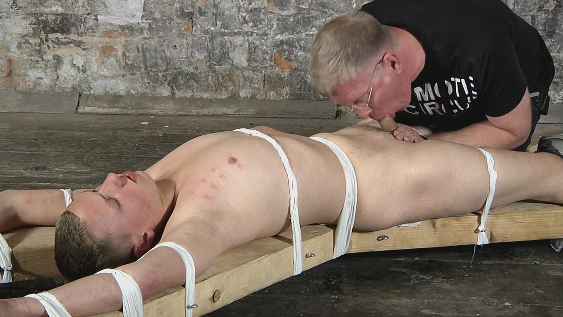 boynapped ManSurfer Boynapped 351: Strapped To The Cross And Milked