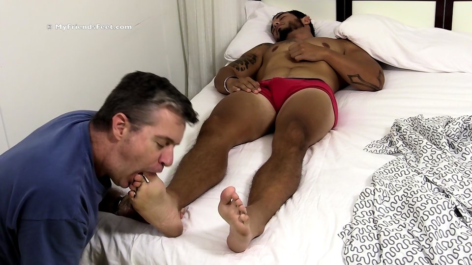 Sleeping Stud Waken Up By Gay Blowjob