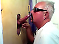 Gloryhole Return Visitor Loves The Blowjob