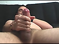 Dark haired amateur dude fuck himself with a dildo