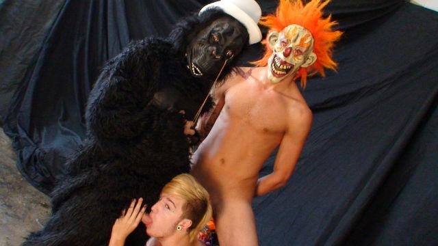 Gay clown porno Gay Handjob Porno