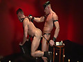 Red Light by Mustang and Falcon Studios features Tyler Saint and Bruno Bond in a ass-fucking scene, with the hot bottom getting his ass fucked good with a strap in his mouth.