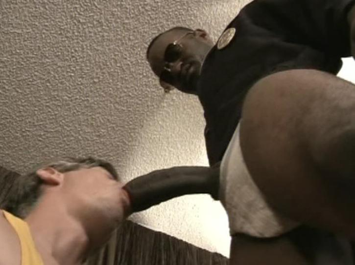 Interracial gay throat fucking