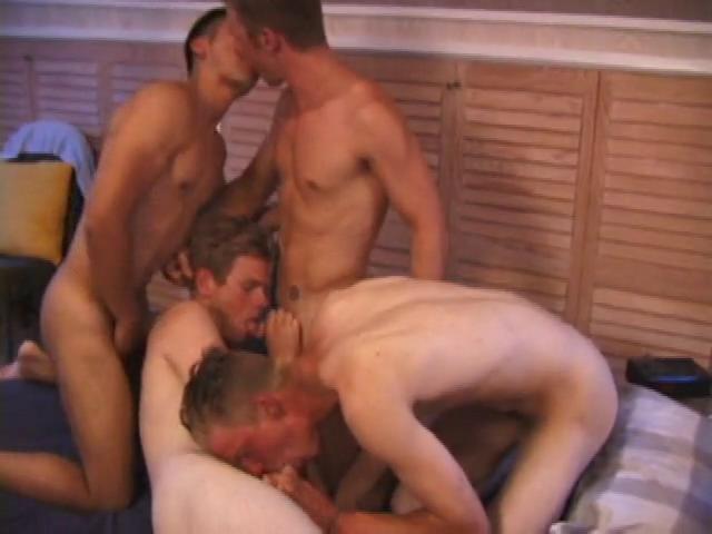 Boyz bed orgy