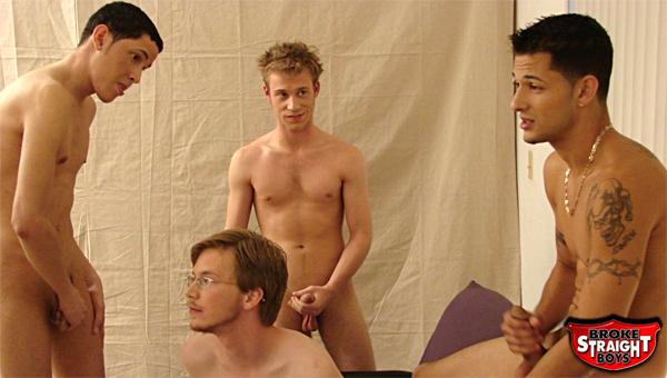 Straight boy orgy phrase