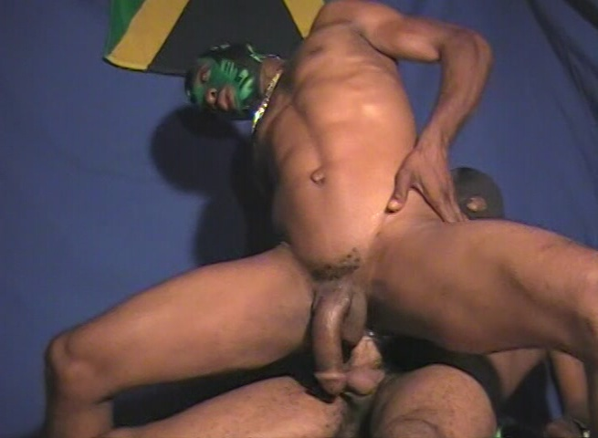 Powerful Black Stud Assdrilling Choco Jock