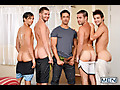 Rafael Alencar, Dylan Knight, Jack Radley, Zac Stevens & Johnny Rapid