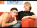 Blonde twink and his friend suck cock and gets ass pounding