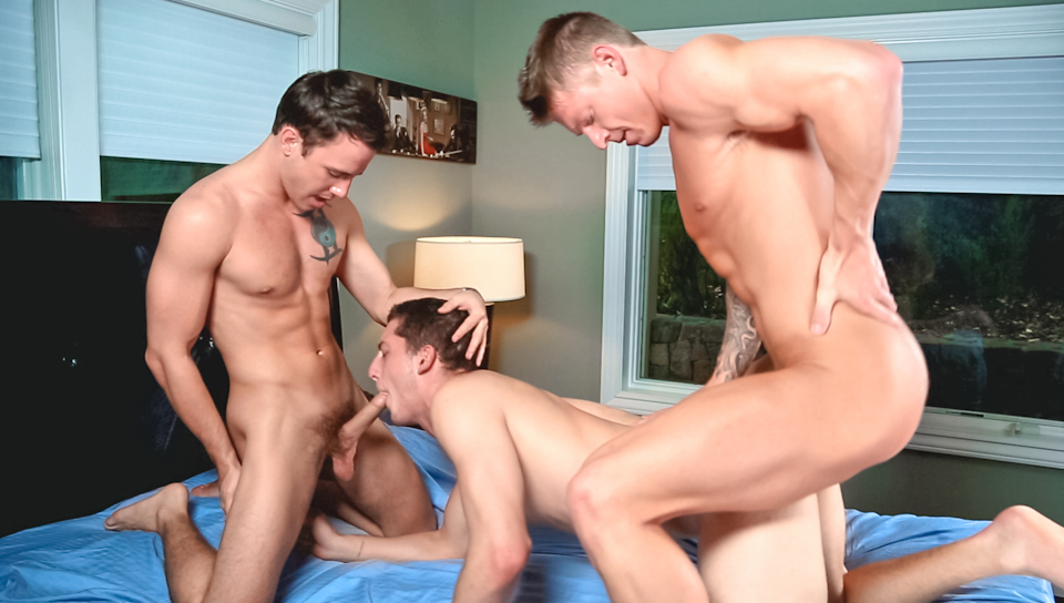Hot Johnny Torque And Dante End Up Bareback Fucking