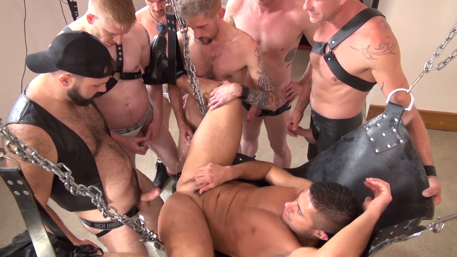 Hung gay gang bang videos