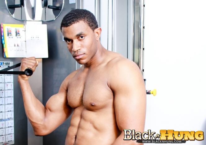 James hung strokes big cock at gym