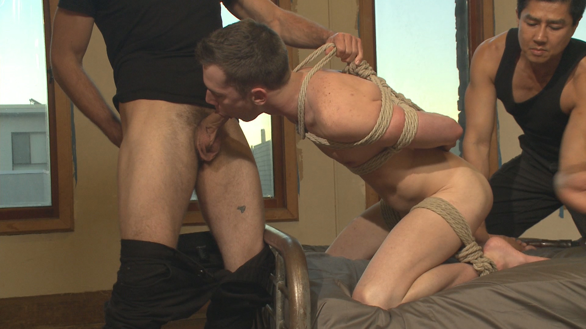Guy Gets Tied Up And Fucked
