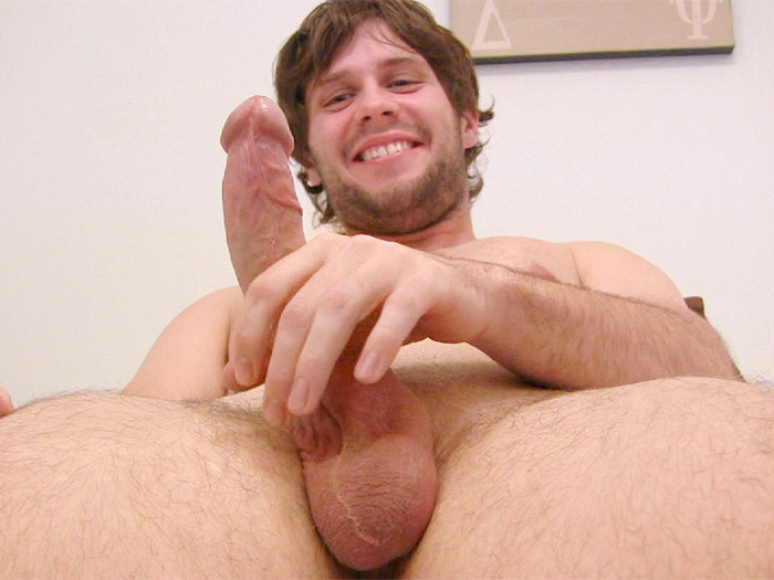 ManSurfer 21-year-old with a 7-inch cock has his first hand job from a g...