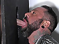 Blake B feeds his cum to another guy at a gloryhole