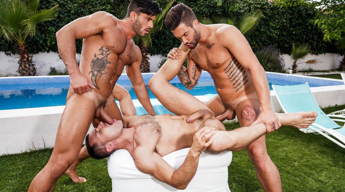 Porn King Castle andrea suarez, andy star & james castle - gay - poolside