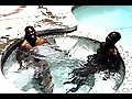 Ebony Knights: Sexy Black Guys Fuck And Suck In Pool