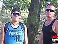 Tyler Hunter with Johnny Molokai