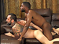 Hung stud fucking Daddy bareback with his big black cock