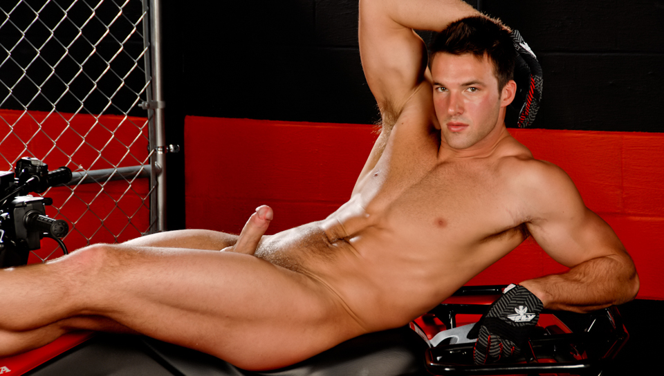Trystan bull gets hard and strips