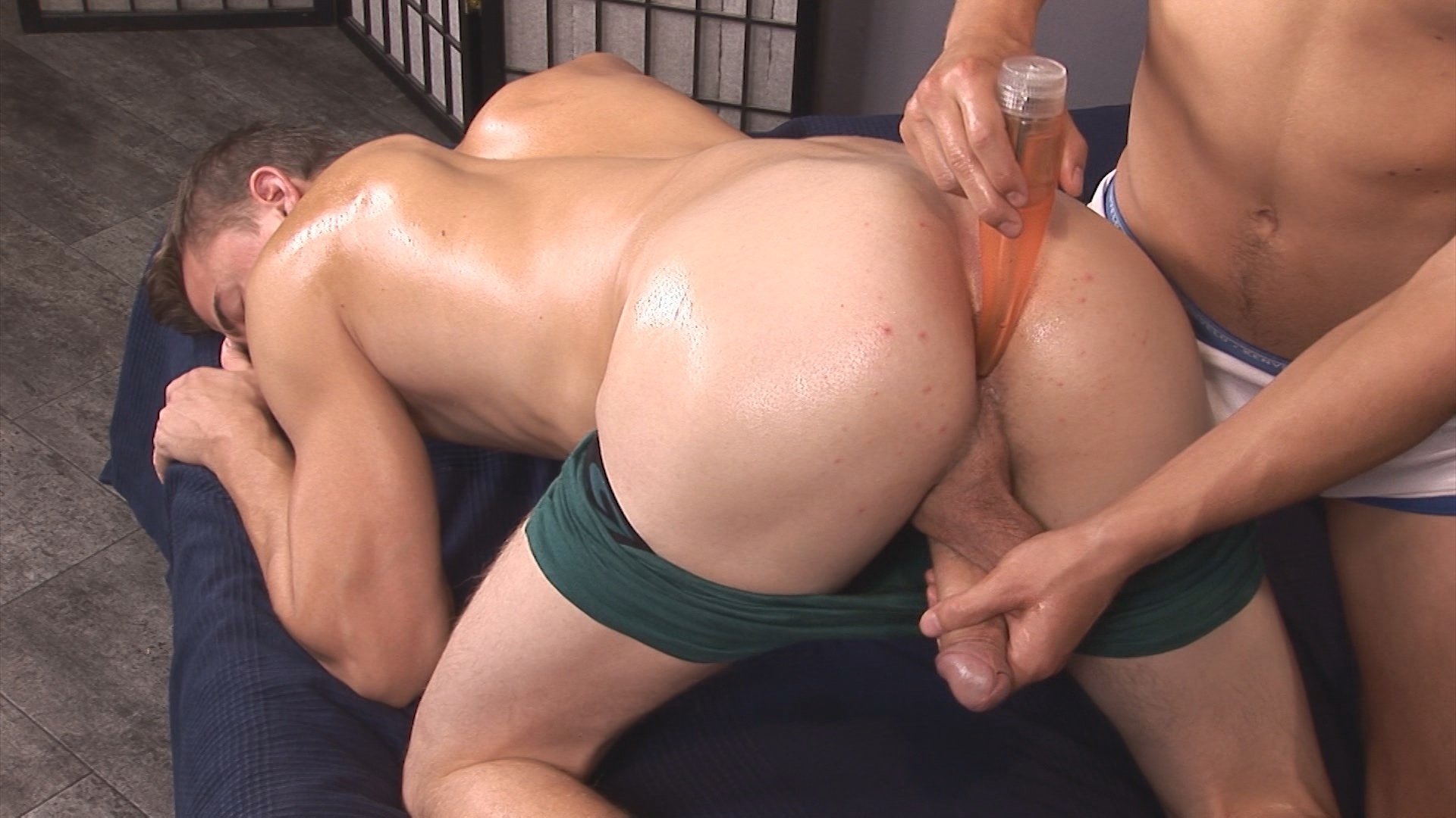 Gay cock riding on couch