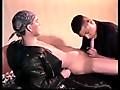 Black Leather White Studs scene 5