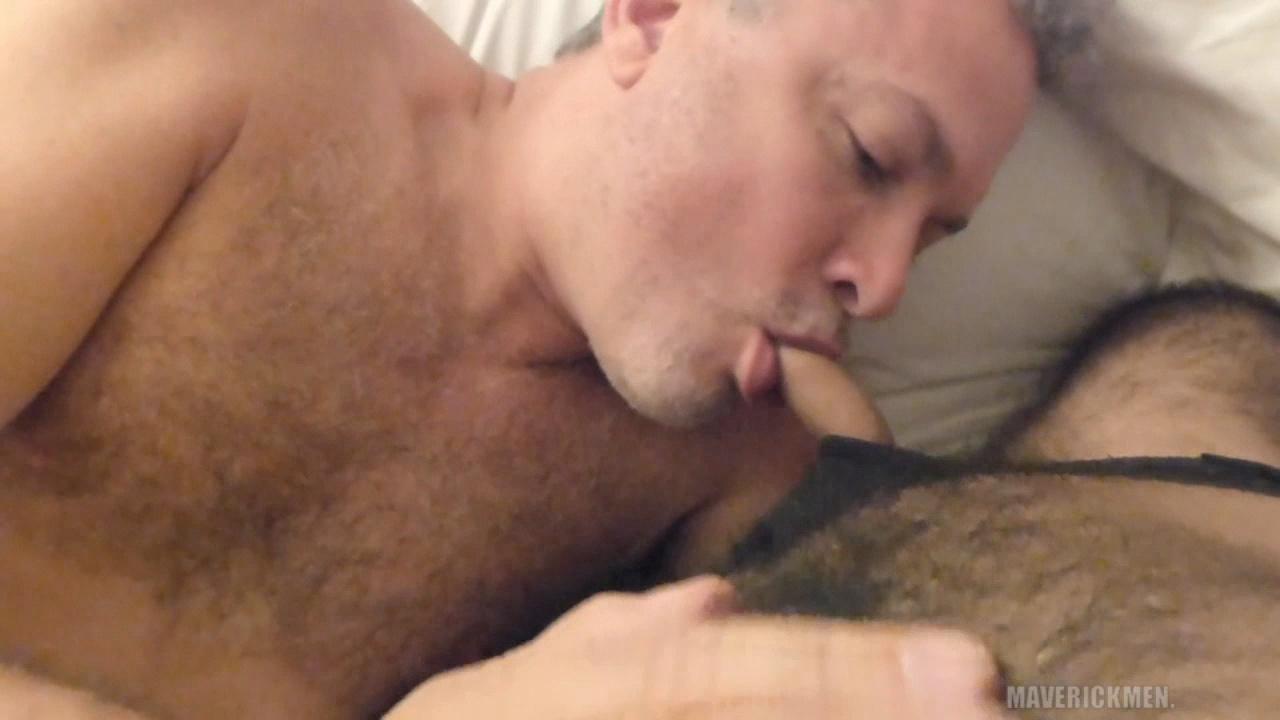 Mature man with pup man