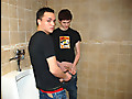 Two Boys Cum In Urinal!