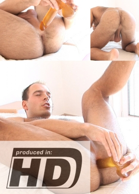 ManSurfer Dildo Meets Hairy Ass