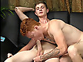 Straight Fraternity: 18 y.o. ginger guy fucked in the ass bareback by a hung straight dude