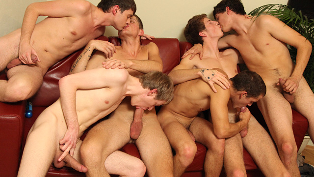 twink orgy video Vintage 1 Hour Orgy with 14 Twinks | GayBoysTube.