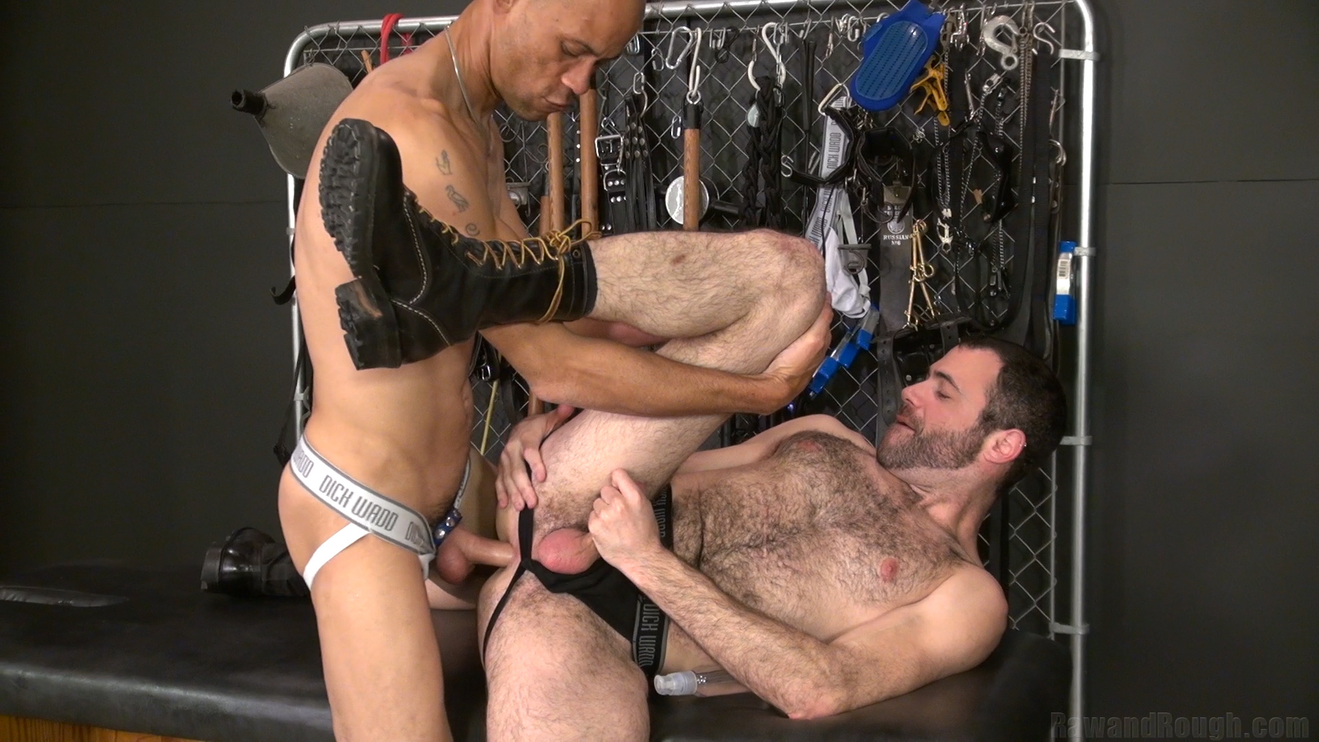 Nasty Gay Hunky Pornstar Takes Turns