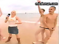 ManSurfer Guys dared to strip down on a public beach