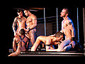 Mathew Mason, Spencer Reed, Bryce Star, Colin Black & Troy Haydon - Fucked Down - Five Man Orgy Part 01