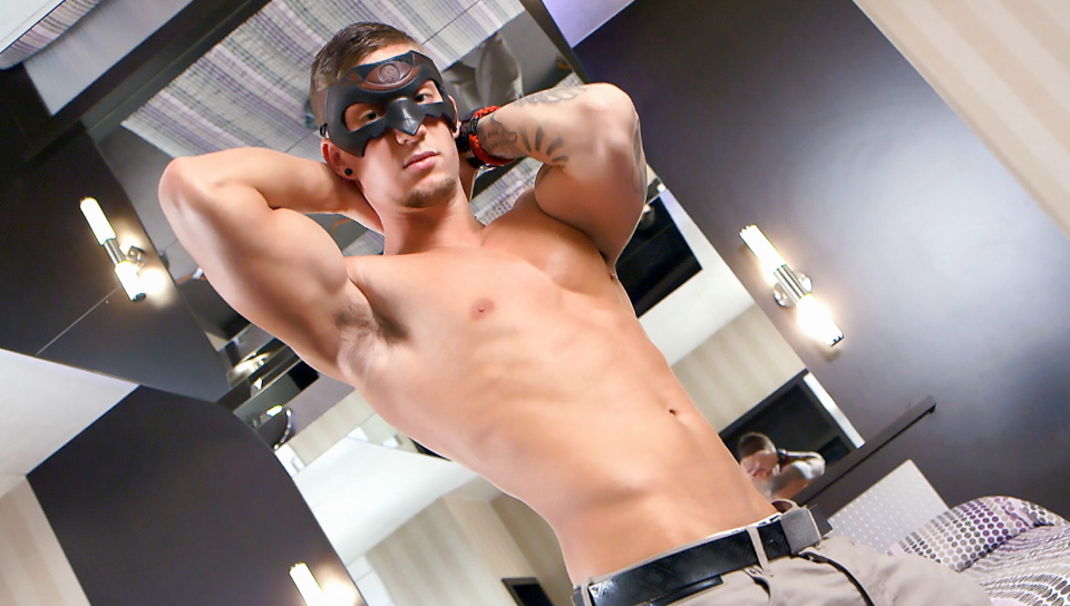 Hot Muscular Stud Jerks Off