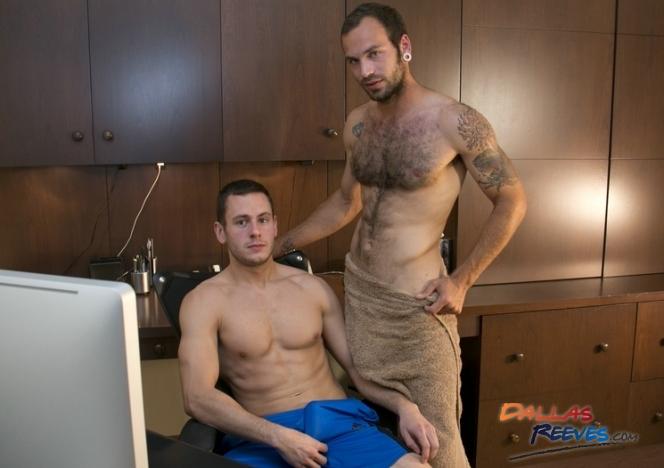 Gay euro hunk stroking his cock solo