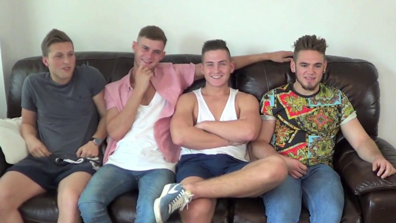 Straight spanked lads