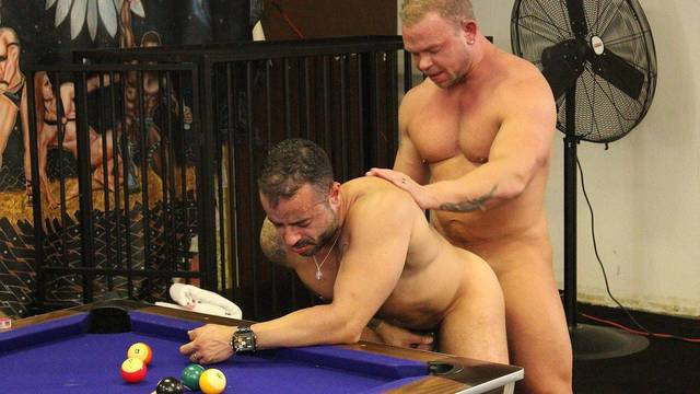 Game of billiards and loser gets fucked full