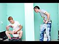 Twinkylicious: Nevin and Braden fuck in public bathroom