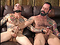 Straight Southern roughneck's first mutual masturbation session with another guy