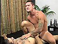 Muscular young wrestler fucked bareback by a big, thick dick
