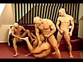 Balled men with raging hard-on gang up on Lislie manzel!