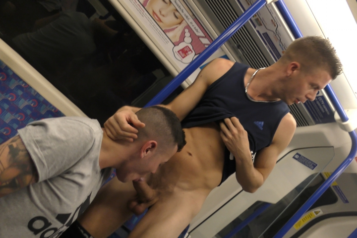 Gay porn on a train