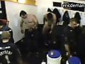 Sportsmen stripping