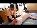 Man Puppy: Spanking in Bondage from Mean Landlord - Jeff Drizzle - Leo Blue