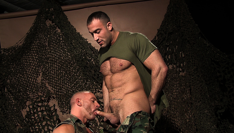 Men in uniform gay porn