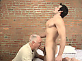 Leo Giamani Serviced by Jake Cruise Media features Jake Cruise on his knees taking as much of Leo Giamani's big dick into his mouth and throat as he can fit.