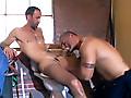 Buffed Gay Bears Sucking Dicks