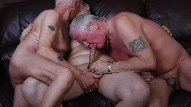 Cock old gay grandpa