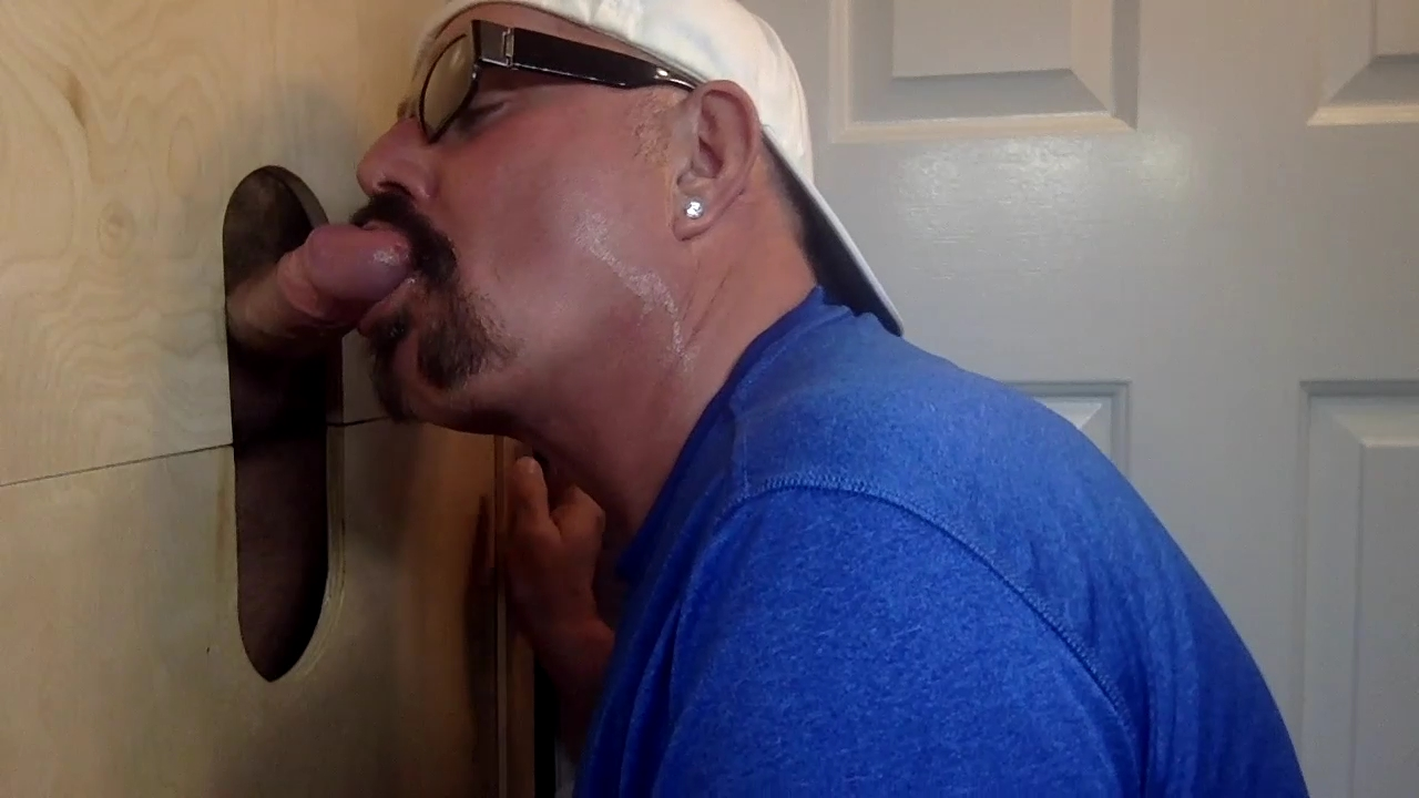 ManSurfer Latino Dad First Time At A Gloryhole